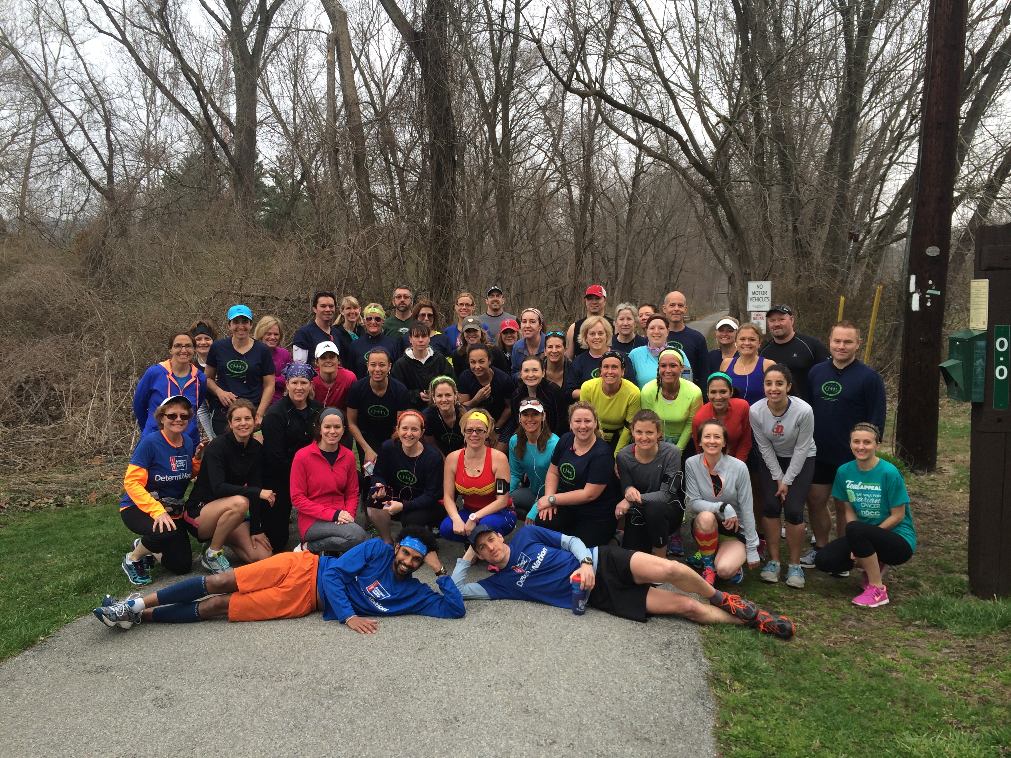 Group run a year later — April 2014.